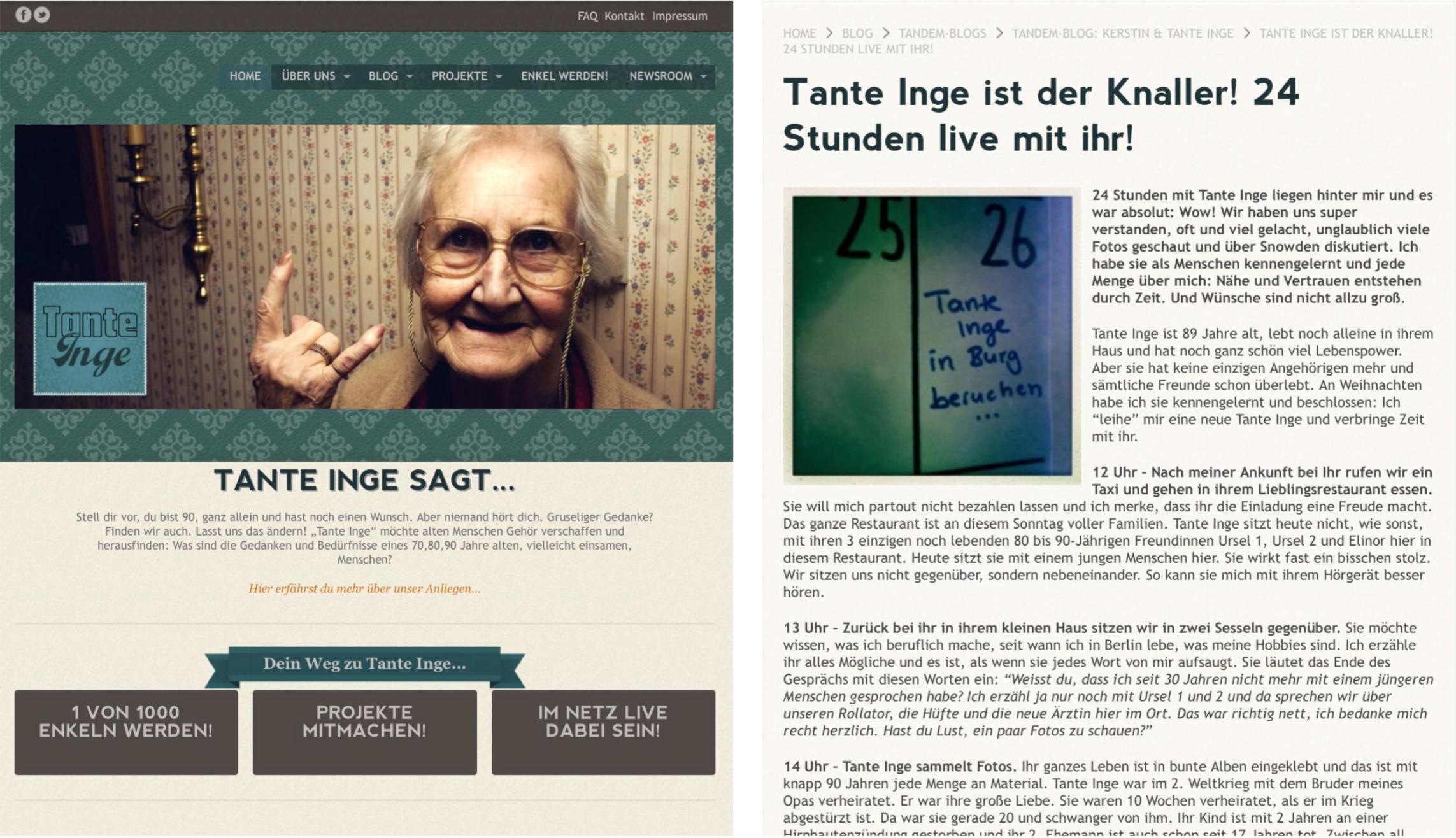 Webseite, Blog, Postkarten